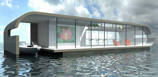 Image source - Floating prefabricated home ...